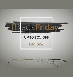 black friday tbt discount banner for hipster event vector image