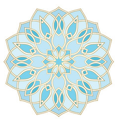Blue abstract mandala vector