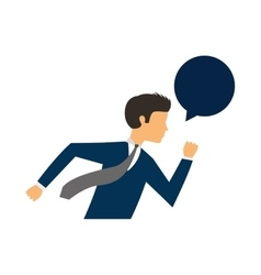 Businessman running character isolated icon vector