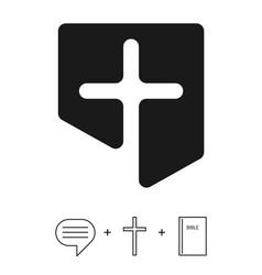 christian logo church vector image