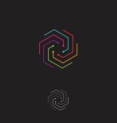 colorful hexagon vector image