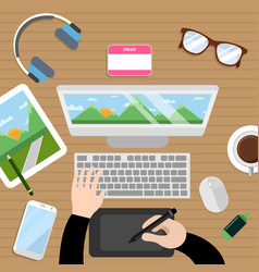 Designer workspace vector