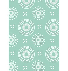 Detailed abstract circle repeat pattern in green vector