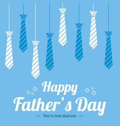 father day design greeting card vector image