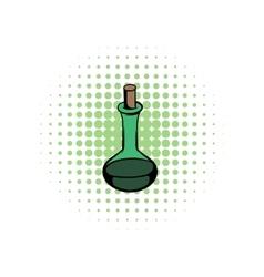 Flask with magic liquid comics vector