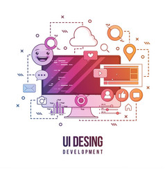 Flat for ui-ux design web design vector