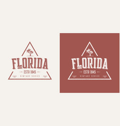 Florida state textured vintage t-shirt and vector