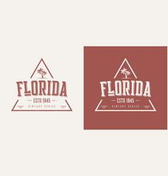 Florida state textured vintage t-shirt vector