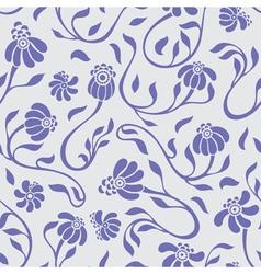 flowers swirls vector image