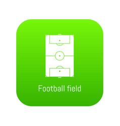 football field icon green vector image