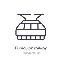Funicular railway outline icon isolated line from vector