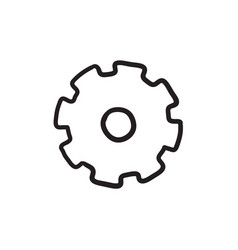 Gear sketch icon vector