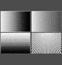 halftone dotted backgrounds vector image