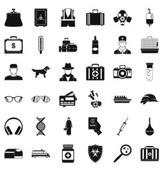 Happening icons set simple style vector