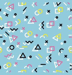 hipster geometric memphis style sameless pattern vector image