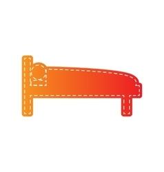 hospital sign orange applique vector image