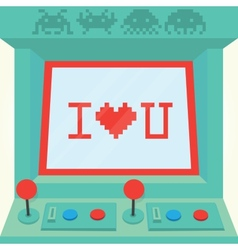 I love you arcade machine isolated vector image
