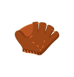 Leather baseball glove cartoon icon vector