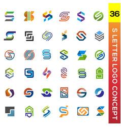 letter s template design logo set vector image