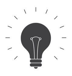Light bulb silhouette vector