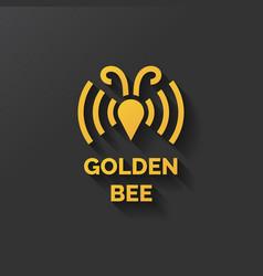 logo of bee honey vector image