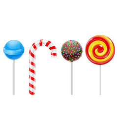 lollipops set of different candies vector image