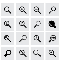 magnifying icon set vector image