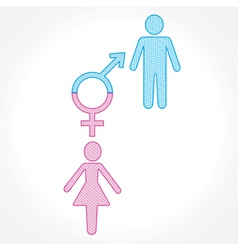 Male and female show equality concept vector
