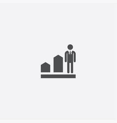 man diagram arrow icon vector image