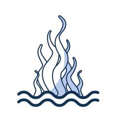 Marine seaweed sealife icon vector