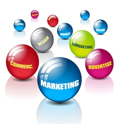 Marketing with balls vector