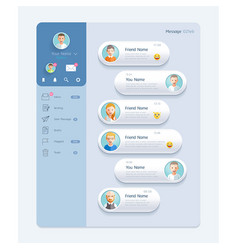 messenger chat interface with dialogue window vector image