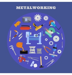 Metaworking poster template vector image
