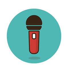 Microphone icon musical sign vector