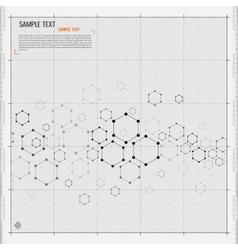 Modern Hexagon background vector