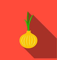 Onion icon flate singe vegetables icon from the vector