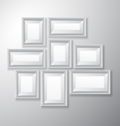 Picture Frames White Variety vector
