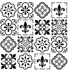portuguese tiles pattern lisbon seamless vector image vector image