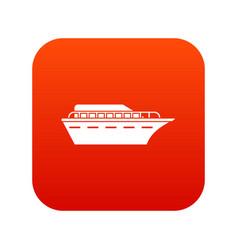 powerboat icon digital red vector image