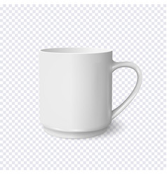 realistic white coffee cup isolated on vector image