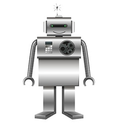 Robot made of metal vector image vector image