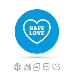 Safe love sign icon safe sex symbol vector
