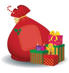 Santa Claus bag vector image