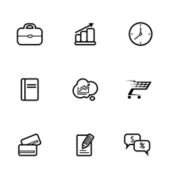 Set of business and shopping icons vector