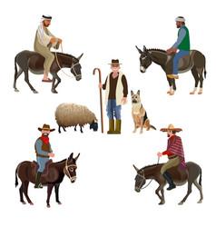 Set of shepherds vector