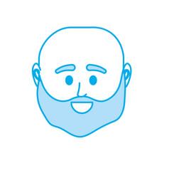 Silhouette avatar man head to social user vector