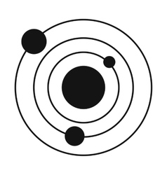 Solar system black simple icon vector image vector image