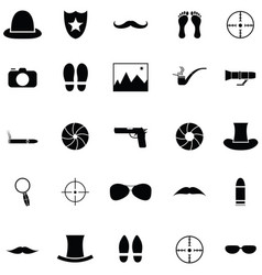 spy icon set vector image