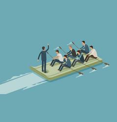 Teamwork business team work money concept vector