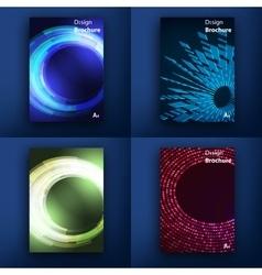 templates design set web mail brochures vector image